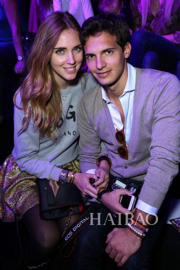 米兰时尚博主嘉拉·法拉格尼 (Chiara Ferragni) 与前男友Riccardo Pozzoli