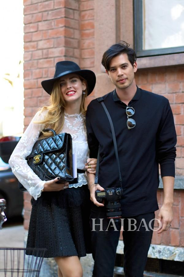 米兰时尚博主嘉拉·法拉格尼 (Chiara Ferragni) 和男友Andrew Arthur