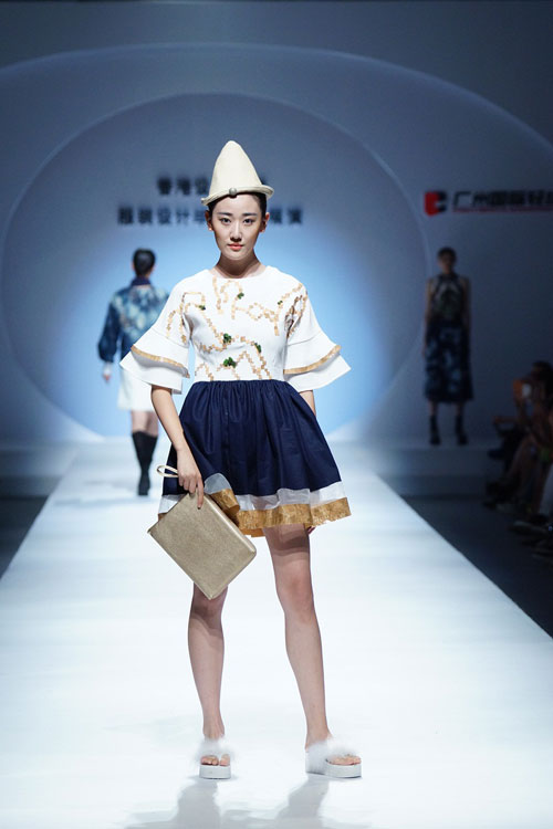 香港设计学院服装设计毕业作品在2015中国(广东)大学生时装周发布