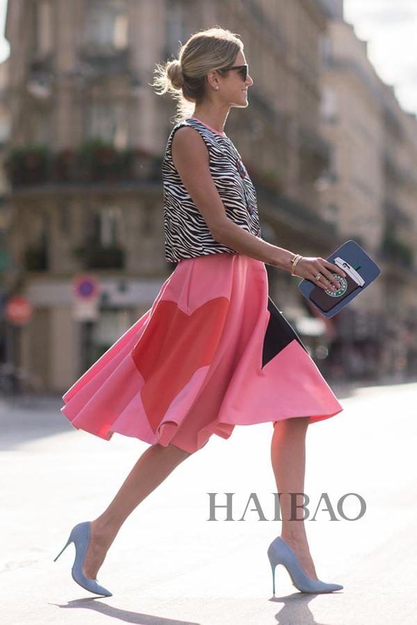 时尚博主海伦娜・博登 (Helena Bordon)  2015秋冬高级定制时装周秀场外街拍