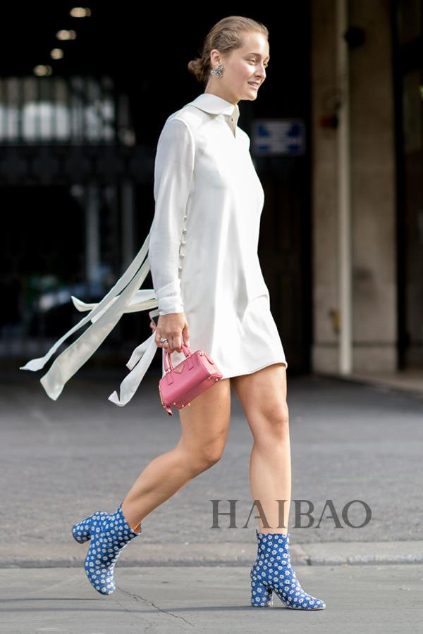 时尚记者Daria Shapovalova 2015秋冬高级定制时装周秀场外街拍