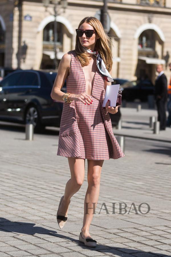 纽约名媛奥利维亚・巴勒莫 (Olivia Palermo) 2015秋冬高级定制时装周秀场外街拍
