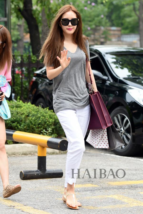 韩国女明星街拍 高挑演员最靠谱图片