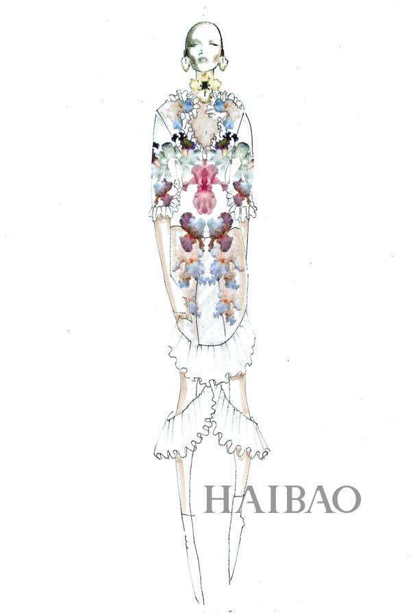 2016春夏米兰时装周设计师灵感解读 品牌:Francesco Scognamiglio创意总监:Francesco Scognamiglio灵感解读:鸢尾花的形状。