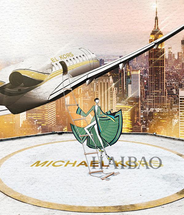 迈克高仕 (Michael Kors) 从纽约到北京品牌历程艺术插画