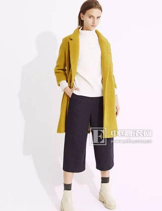 廓形简洁,分割线别致使衣身下摆呈现o型效果.