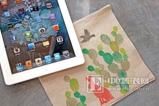 新申亚麻面料梦想家:杰尼DIY亚麻iPad的舒适