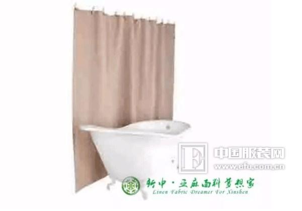 新申亚麻面料梦想家:五种绿色浴帘的选择