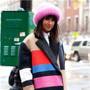 欧美时尚达人们的时尚冷帽穿搭示范