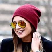 暖萌毛线帽的时尚开启方式:更萌更显年轻