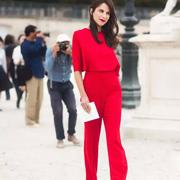 娅美悉女装新品:最流行的大红色应该这样穿