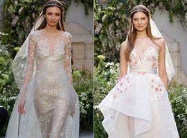 2017春夏纽约婚纱周:莫尼克·鲁里耶的不规则美感