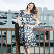 莎斯萊思女裝——浪漫印花波西米亞連衣裙