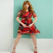 梦菲雪印花连衣裙:演绎优雅、时尚气息