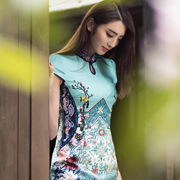 华姿韵印花旗袍,演绎时尚中国风!