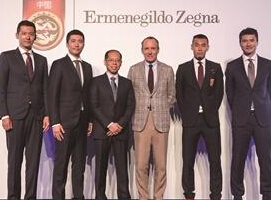 杰尼亚集团赞助中国国家男子足球队和中国国家男子U22/23足球队