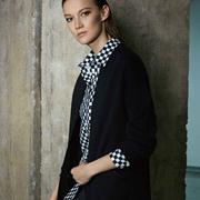 奥菲曼黑色大衣+格纹的正确打开方式