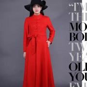 图案女装冬季大衣单品打造气场女王!