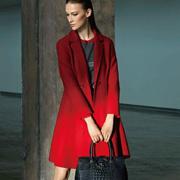奥菲曼红色大衣,给你的冬天添点色!