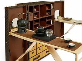 Louis Vuitton为旅人做了套茶道硬箱