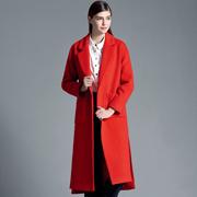 衣秀维妮红色大衣 穿出新年新气象
