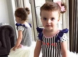 澳两岁女童纽约时装周走秀 拥有自己的服装品牌