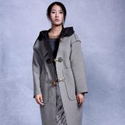 依丁可唯女装 灰色大衣风靡秋冬