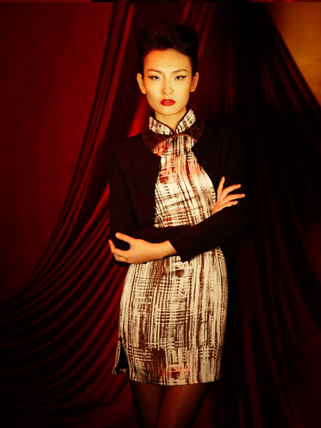 唐朝服饰女-锦玺唐女装   以其高贵而优雅,传统而浪漫的风格,推陈出新的创意,图片