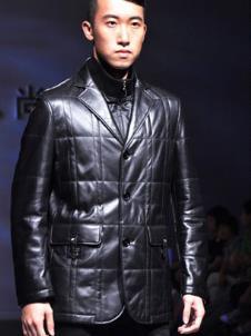 麥克頓MKD皮草服飾樣品皮革男裝外套款式