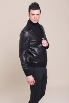 雪豹2012时尚休闲服饰样品裘皮男装外套款式