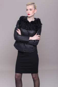 雪豹2012时尚休闲服饰样品裘皮女装外套款式