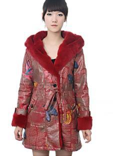 欧阔100%2010皮草服饰样品裘皮外套款式
