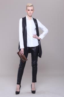 雪豹2012时尚休闲服饰样品裘皮女装夹克款式