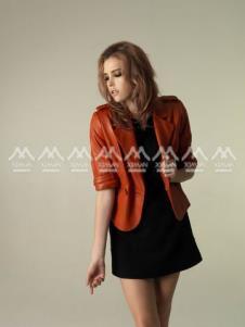 西曼ximan2012皮草服飾樣品女裝皮革外套款式