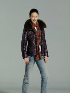 奥琪特AOQITE2013冬季女士短款羽绒服样品