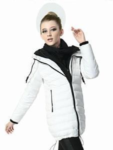 伊玫尔YEM2013冬季女士长款羽绒服样品