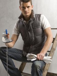 戈凌蓝GREENLAND2013冬季男士士短款羽绒服样品