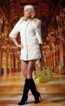 奈希儿Luxurier皮草服饰样品外套女装皮草款式
