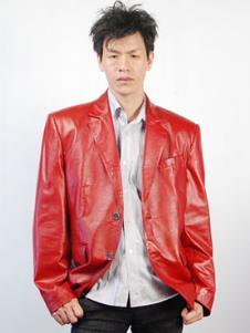 芙兰达FULANDA皮革服饰样品男装皮革外套款式