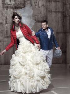 戈凌蓝GREENLAND2013冬季女士短款羽绒服样品