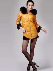 莱迪菲尔RAIDFEEL2013冬季女士长款羽绒服样品