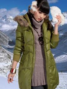 北迪BEIDI2013冬季女士长款羽绒服样品
