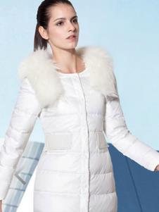艾尚雪I`SURE2013冬季女士长款羽绒服样品