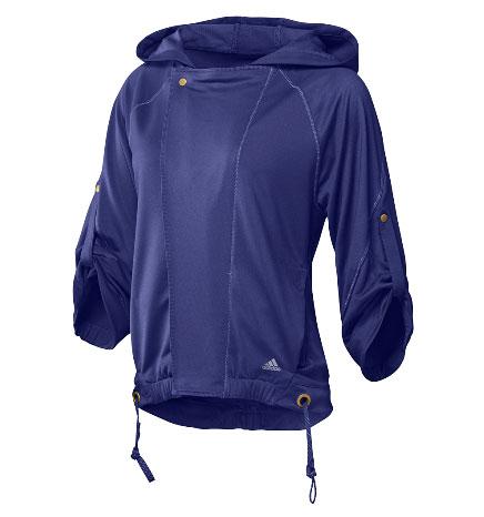 阿迪达斯Adidas经典运动装女式跑步运动夹克