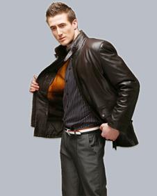 依諾莎YINUOSHA2012皮革服飾樣品男裝皮革外套款式