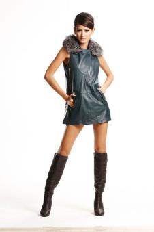 太球TAIQIU皮革服饰样品裘皮服装女装裙子款式