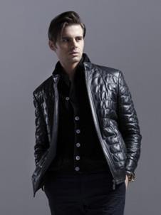 鄂兰斯皮革服饰样品男款裘皮服饰外套