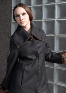 吉列順JIELIESHUN皮草服飾樣品裘皮服裝女裝外套款式