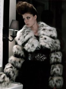 纵慧子WITTY FUR皮草服饰样品皮草女装外套款式