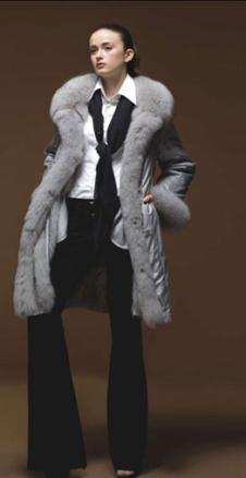 優雅麗人yuya kimi皮草服飾樣品皮草女裝外套款式